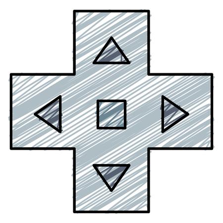 Video game cross icon vector illustration design 向量圖像