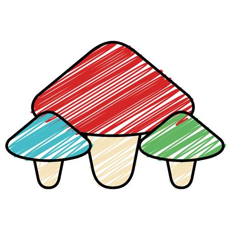 Cute fungus isolated icon vector illustration design Illusztráció