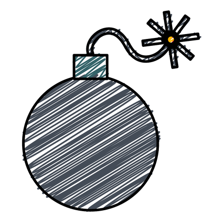 Explosive bomb isolated icon vector illustration design Illustration