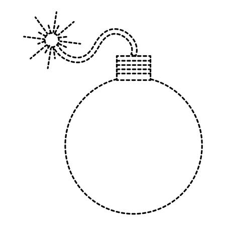 Explosive Bombe isoliert Symbol Vektor-Illustration , Design , Standard-Bild - 91236690