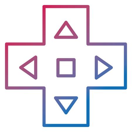 video game cross icon vector illustration design Illustration
