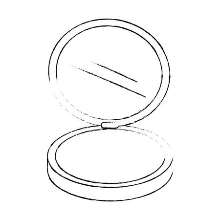 メイクアップパウダー絶縁アイコンベクトルイラストデザイン