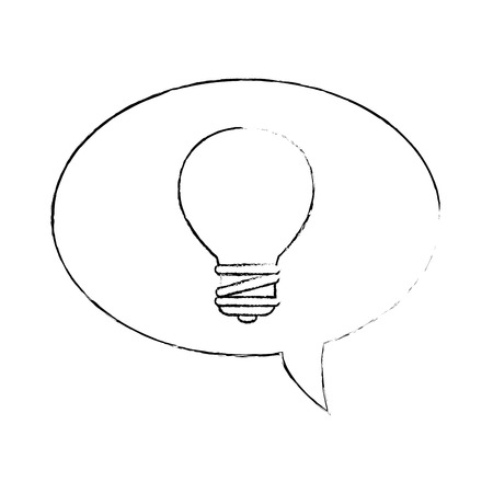 speech bubbles with bulb vector illustration design
