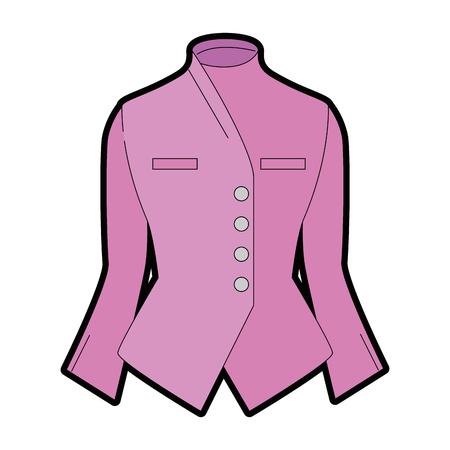Elegant blouse for women vector illustration design 向量圖像