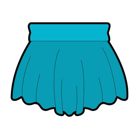 Elegant short skirt for woman vector illustration design