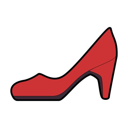 Elegant vector de illustratieontwerp van het hiel vrouwelijk pictogram