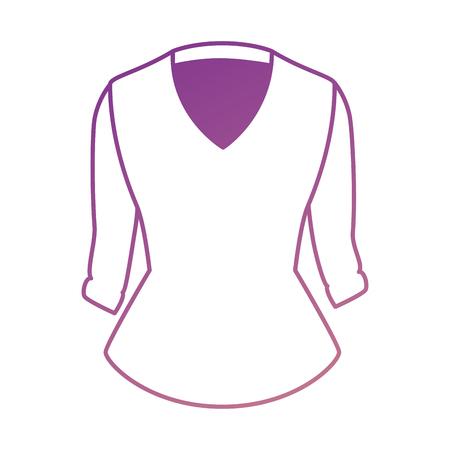 Blusa elegante para el diseño de ilustración vectorial de mujeres Foto de archivo - 91280389