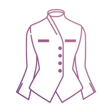 Elegant blouse for women illustration design.