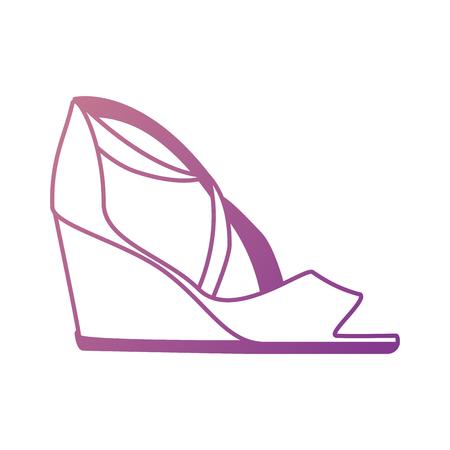 Elegant sandalen pictogram vector illustratie ontwerp met hakken Stockfoto - 91280633