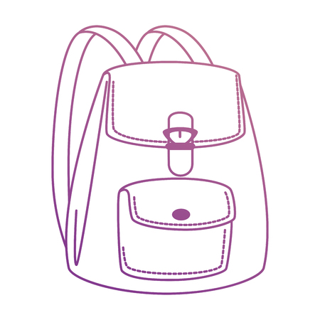 Womans backpack isolated icon vector illustration design