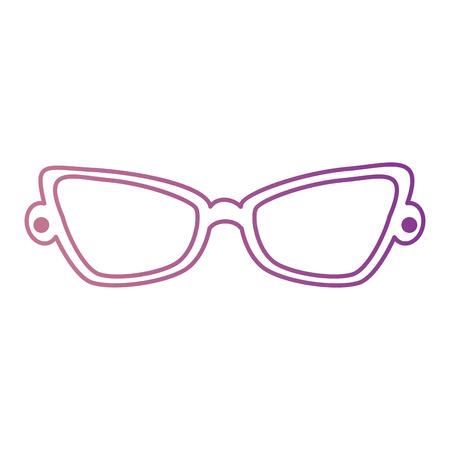 Ontwerp van de het pictogram vectorillustratie van de manieroogglazen het geïsoleerde