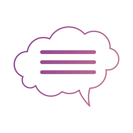 Speech bubbles isolated icon vector illustration design