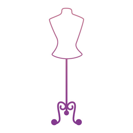 Mannequin store isolated icon vector illustration design Illustration
