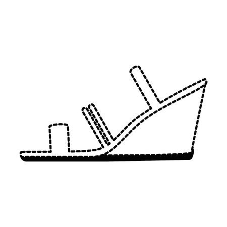 Elegant heeled sandals icon vector illustration design