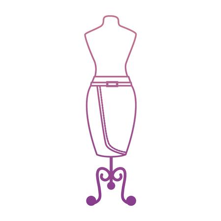 Elegant skirt for woman in manikin vector illustration design