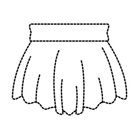 여자 벡터 일러스트 디자인을위한 우아한 짧은 치마
