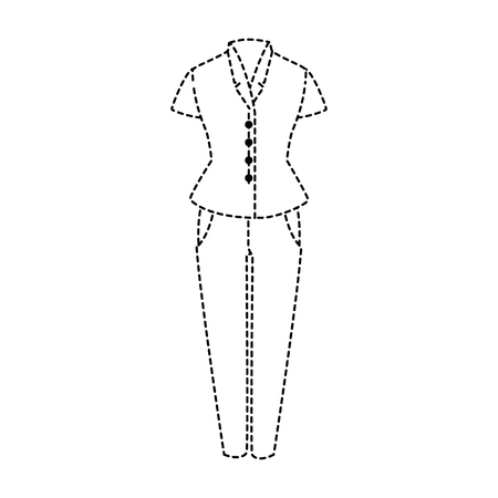 Elegant dress for woman vector illustration design