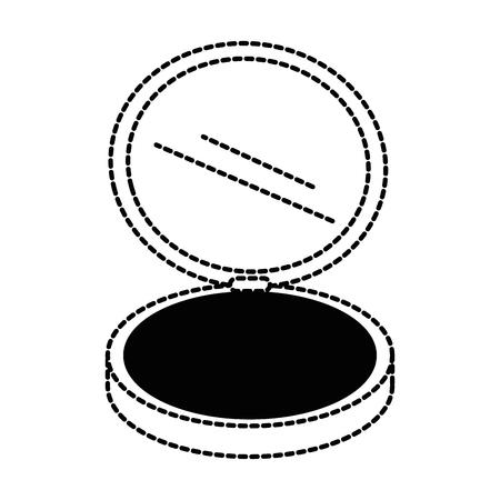 メイクアップパウダー分離アイコンベクトルイラストデザイン
