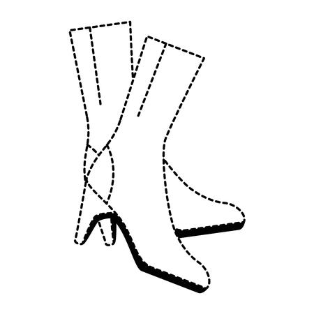 Elegantes hochhackiges Stiefelikonenvektor-Illustrationsdesign Standard-Bild - 91239477