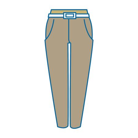 Elegant pants for women vector illustration design