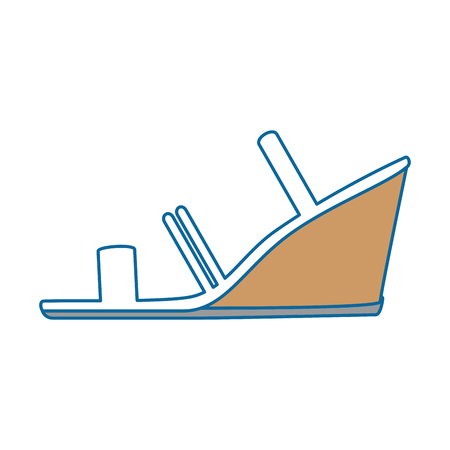 Elegant gehield vector de illustratieontwerp van sandalspictogram Stock Illustratie