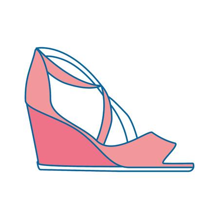Elegant sandalen pictogram vector illustratie ontwerp met hakken Stockfoto - 91280738