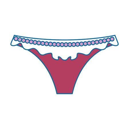 여성 끈 격리 아이콘 벡터 일러스트 디자인