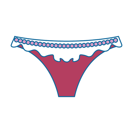 Female thongs isolated icon vector illustration design