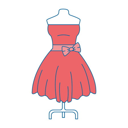 An elegant dress for woman vector illustration design