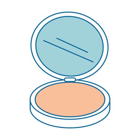 Make-up Pulver isoliert Symbol Vektor-Illustration , Design , Standard-Bild - 91280926