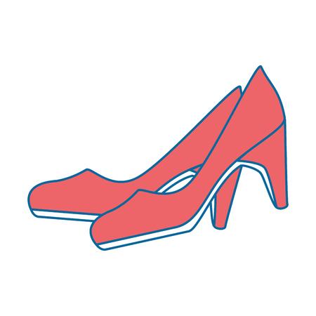 Een elegant vector de illustratieontwerp van het hoge hielen vrouwelijk pictogram