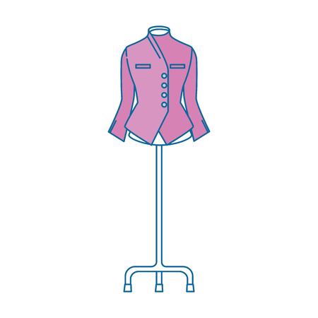 elegant blouse for women in manikin vector illustration design 向量圖像