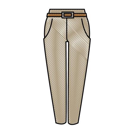 Elegant pants vector illustration design