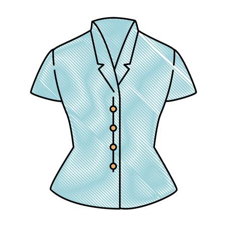 Elegant blouse for women vector illustration design Ilustracja