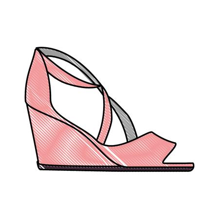 elegant sandalen pictogram vector illustratie ontwerp met hakken Stock Illustratie