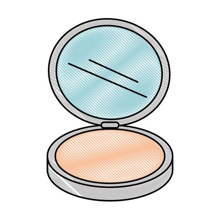 Vector de illustratieontwerp van het make-uppoeder geïsoleerd pictogram