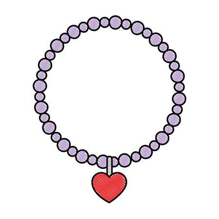 Elegant necklace isolated icon illustration design