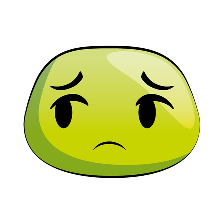 Sad emoji face icon vector illustration design