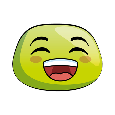 happy emoji face icon vector illustration design