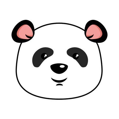Projeto bonito da ilustração do vetor do emoji da panda Foto de archivo - 91256971