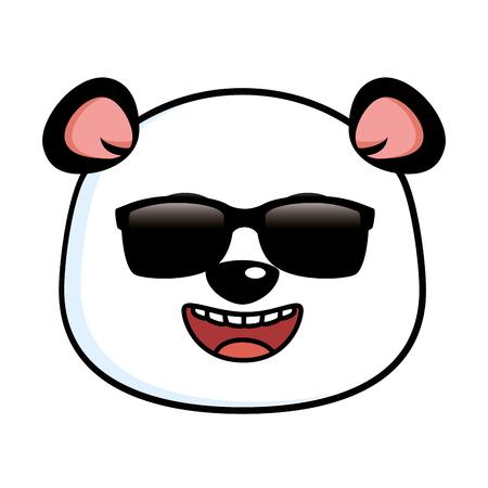 Panda mignon avec des lunettes de soleil illustration design Banque d'images - 91237906