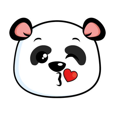 Panda bonito emoji lindo vector design ilustração Foto de archivo - 91237846