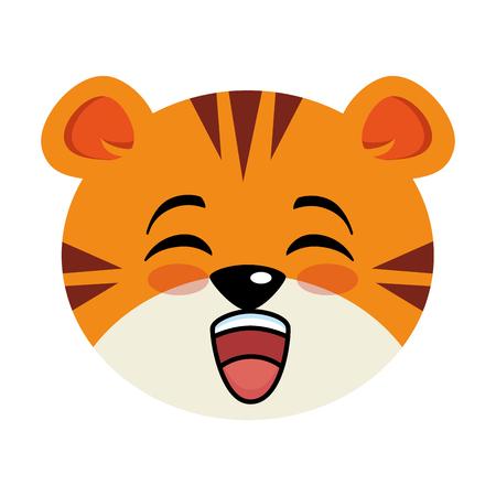 Cute tiger character vector illustration design