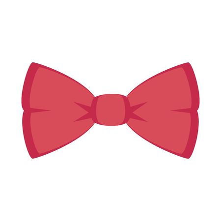Bow tie ribbon isolated icon vector illustration design Illustration