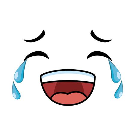 Laughing emoticon face icon illustration design 向量圖像