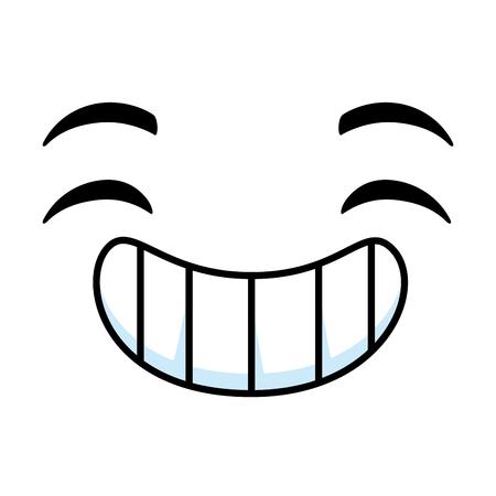 Happy emoticon face icon illustration design. Illustration