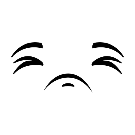 Sad emoji face icon vector illustration design