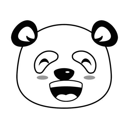 Lindo panda feliz emoji kawaii vector ilustración diseño Foto de archivo - 91511158