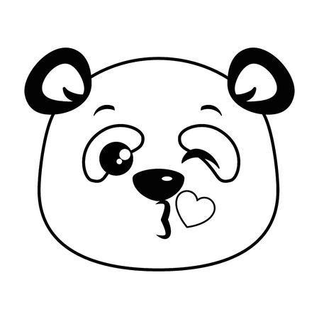 Lindo panda precioso emoji kawaii vector ilustración diseño Foto de archivo - 91511162