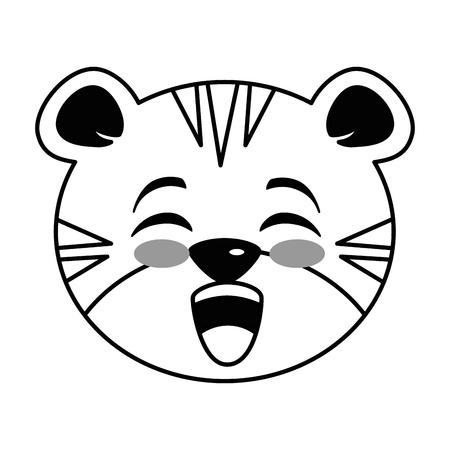 cute tiger kawaii character vector illustration design Vektorové ilustrace